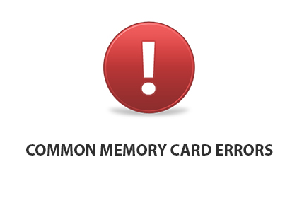 Common memory card errors