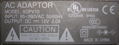 Power Supply - 110V