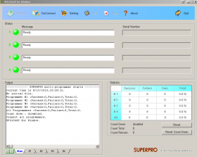 SuperPro Software GUI